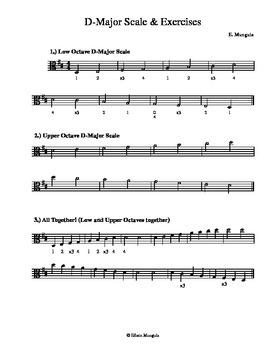 D-Major Scales & Exercises (Viola)