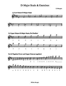D-Major Scales & Exercises (Violin)