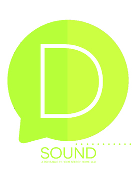 D Sound Printable Flashcards