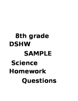 D Science Homework
