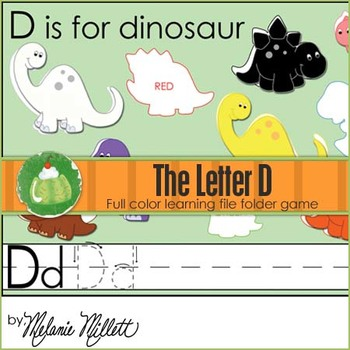 D is for Dinosaur File Folder Game