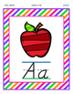 D'nealian Style Colorful Alphabet Wall Posters in Two Sizes