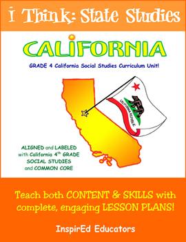 D1607 California State Studies - Complete 4th grade ebook unit!