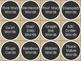 DAILY 5  WORD WORK Drawer Labels Burlap Chalkboard WHITE