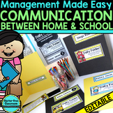 DAILY COMMUNICATION FOLDERS for PARENT COMMUNICATION & CLA
