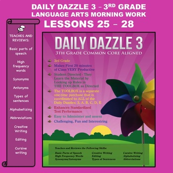Language Arts Bell Ringer - DAILY DAZZLE 3 (3rd grd) Lesso