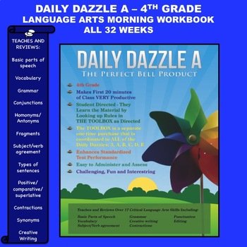 LANGUAGE ARTS BELL RINGER - 4TH GRADE -  DAILY DAZZLE A BO