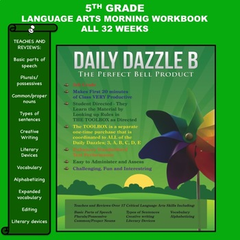 LANGUAGE ARTS BELL RINGER - 5TH GRADE -  DAILY DAZZLE B BO