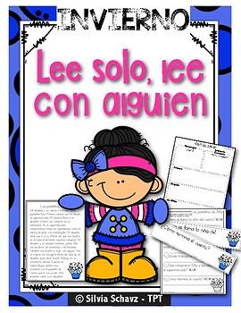 DAILY 5 en español: Cuatro lecturas diferenciadas para enero
