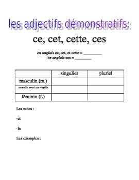 works w/ D'Accord 1 Unit 6 : intro handout for demonstrati