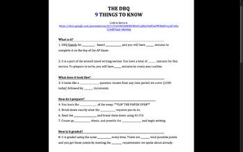 DBQ APEURO: Modified DBQ, DBQ Lecture, Thesis Worksheets,