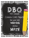 1 DBQ Document Based Questions for 4th Grade Math