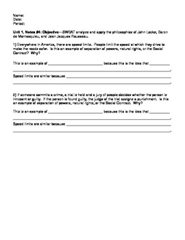 DBQ Enlightenment Application Discussion