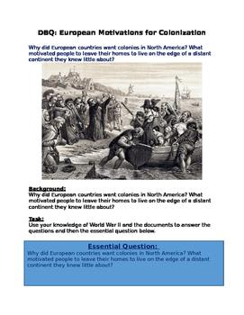 DBQ: European Motivations for Colonization in Americas