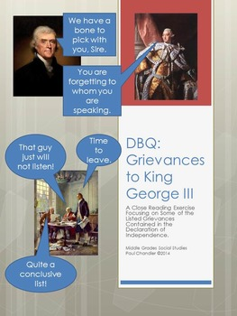 DBQ: Grievances to King George Close Reading