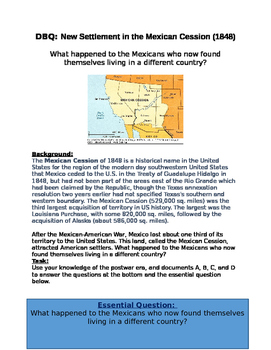 DBQ: New Settlement in the Mexican Cession (1848)