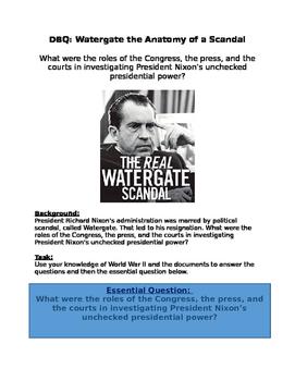 DBQ: Nixon- Congress, the press, courts do its job in inve