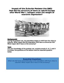 DBQ - Postwar Era 1950s the Impact of the Suburbs