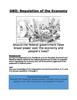 DBQ: Progressive Era: Should the federal government have p
