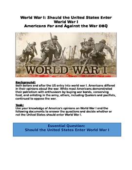 DBQ: Should the United States Enter World War I?