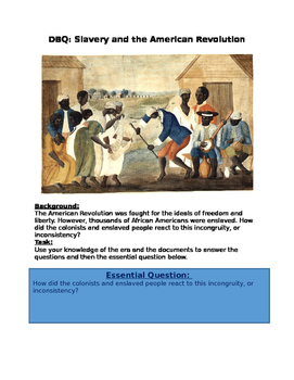 DBQ: Slavery and the American Revolution
