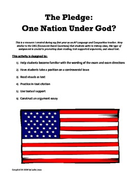DBQ: The Pledge (Argument & Sources)