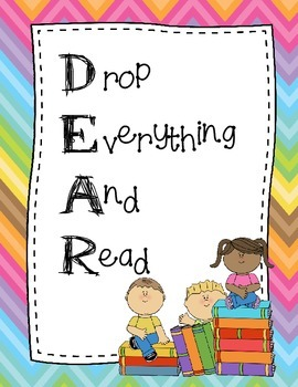 DEAR and DEAD posters (Drop Everything And Read) & (Drop E