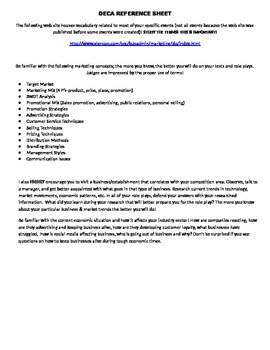 DECA Study Sheet