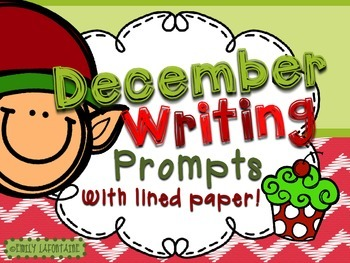 DECEMBER Writing Prompts (30 count) - task cards and poste