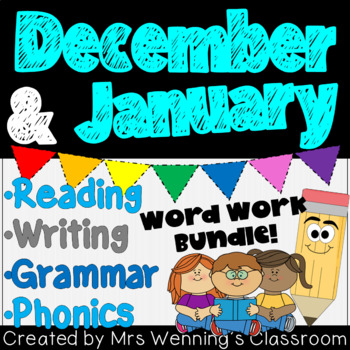 DECEMBER/JANUARY Lesson Plans, Activities, and Word Work!