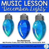 """Holiday Song: """"December Lights"""" for Choir, Recorder and Or"""