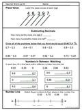 DECIMALS NUMBER SENSE Warm-up Activities (Set of 7 pages p