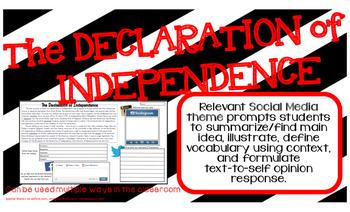 DECLARATION OF INDEPENDENCE American Revolution