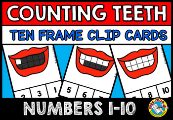 DENTAL HEALTH MATH CENTER (TEETH COUNTING CLIP CARDS) COUN