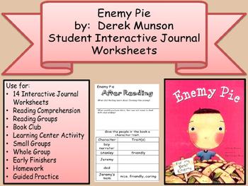 DEREK MUNSON Enemy Pie Interactive Student Journal Compreh