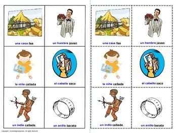 Describing Words - Adjectives.  Lottery - (Board Game).