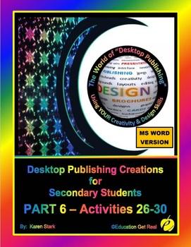 """DESKTOP PUBLISHING - Part 6 Activities: """"Introduction to D"""
