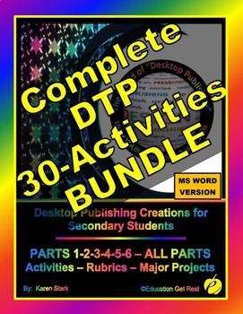 """DESKTOP PUBLISHING COMPLETE BUNDLE - PARTS 1-6 """"Activities"""