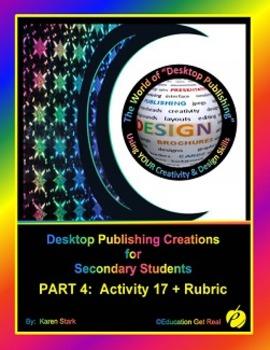 """DESKTOP PUBLISHING (Comp.Apps/ Wd.Proc.) """"#17 Design & Cre"""
