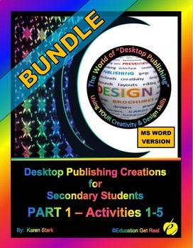 """DESKTOP PUBLISHING - Part 1 Activities: """"Introduction to D"""