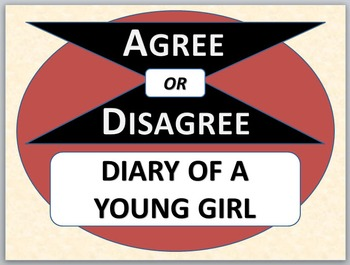 DIARY OF A YOUNG GIRL - Agree or Disagree Pre-reading Activity