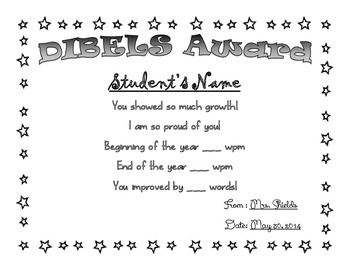 DIBELS Award