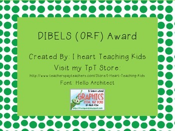 DIBELS Award (ORF)