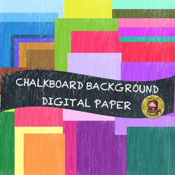 DIGITAL BACKGROUND PAPERS {36 CLASSIC CHALKBOARD COLORS}