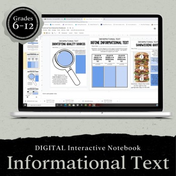 DIGITAL Google Drive Interactive Notebook: Informational T