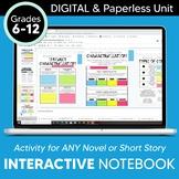 DIGITAL Google Drive Interactive Notebook: Reading Literat