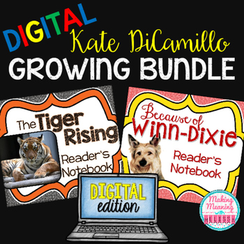 DIGITAL Kate DiCamillo Growing Bundle - 4rd-8th grade