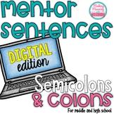 DIGITAL Mentor Sentences - Semicolons and Colons - Seconda