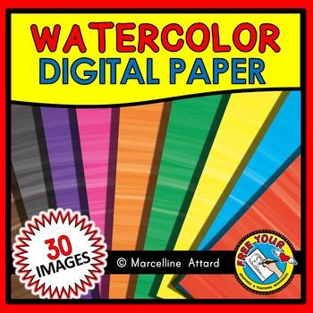 WATERCOLOR DIGITAL PAPER: WATERCOLOR BACKGROUNDS: WATERCOL