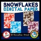 WATERCOLOR SNOWFLAKES DIGITAL PAPERS: WINTER CLIPART: SNOW